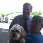 mayor martin, geraldine, and pet teddy
